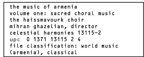The Music of Armenia, Vol  1: Sacred Choral Music